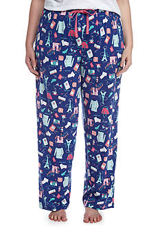 New Directions Plus Size Paris Style Knit Pajama Pant