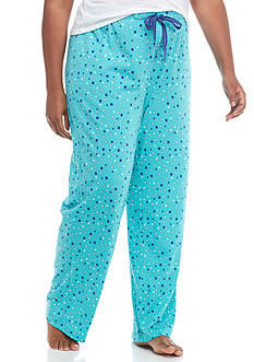 New Directions Plus Size Dot Pajama Pant