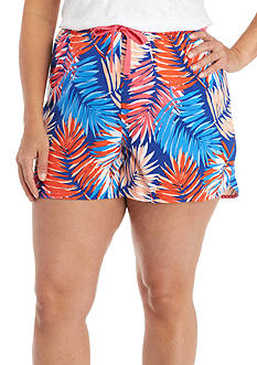 New Directions® Plus Size Palm Boxer Shorts