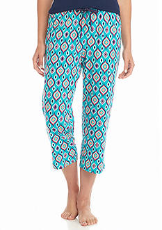 New Directions Intimates Medallion Turquoise Knit Capris