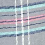 Womens Pajama Pants: Gray Plaid New Directions Plaid Flannel Pants