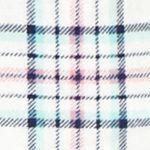 Womens Pajama Pants: Ivory Plaid New Directions Plaid Flannel Pants