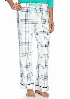 New Directions Plaid Flannel Pants