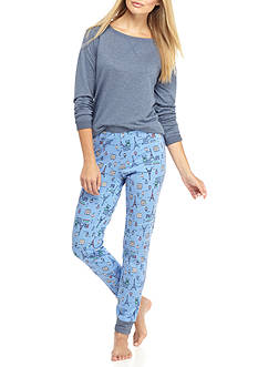 New Directions Tunic Jogger Paris Pajama Set