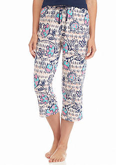 New Directions Intimates Floral Knit Capris