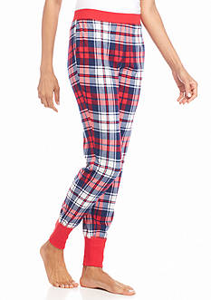 New Directions Red Plaid Jogger