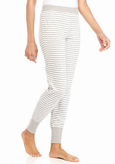 New Directions Intimates Gray Stripe Jogger
