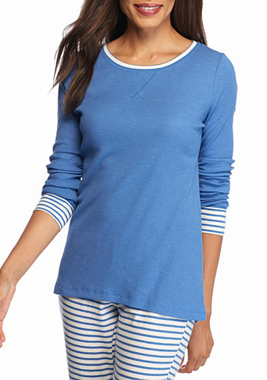 New Directions® Long Sleeve Blue Tee