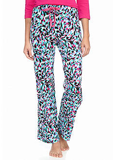 New Directions Printed Peacock Knit Pant