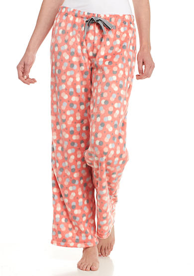 New Directions® Coral Dot Mink Pants