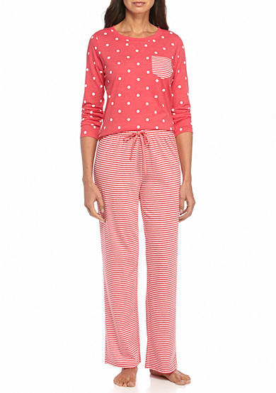 New Directions® Red Dot Stripe Pajama Set