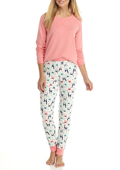 New Directions® Tunic Jogger Llama Pajama Set