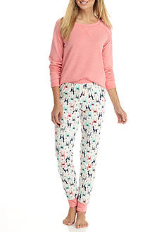 New Directions Tunic Jogger Llama Pajama Set