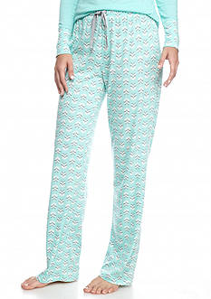 New Directions Printed Foliage Knit Pant