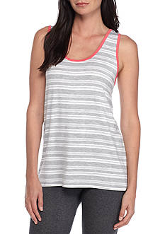 New Directions® Gray Stripe Tank Top