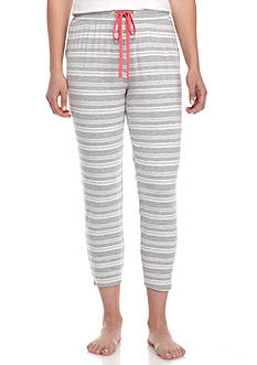 New Directions® Gray Stripe Capri Pants
