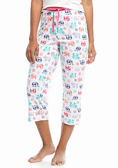 New Directions Elephant Capri Pajama Pant