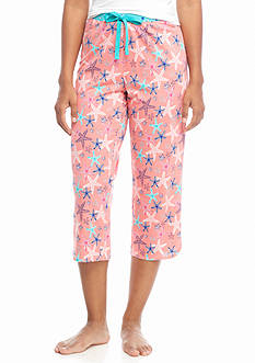 New Directions Print Starfish Capri Pajama Pant