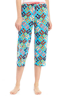 New Directions Printed Capri Pant