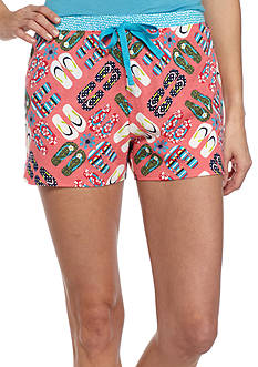 New Directions Flip Flop Medallion Printed Boxer