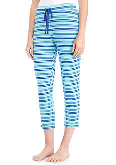 New Directions® Blue Stripe Capri Pants