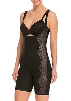 ASSETS® by Sara Blakely Luxe and Lean Open Bust Mid-Thigh Bodysuit- 10116R