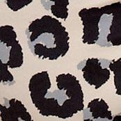 Women's Bikini Underwear: Tan/Black Leopard New Directions Intimates Printed Lace Trim Bikini - B91193P