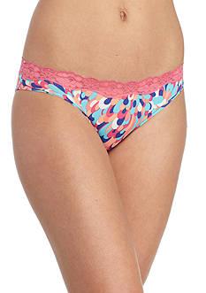 New Directions Intimates Printed Lace Trim Bikini - B91193P