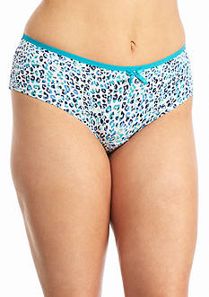 New Directions Plus Size Printed Modern Micro Briefs - BR5290XP