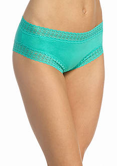 New Directions Lace Trim Solid Cheeky Hipsters - H91276P
