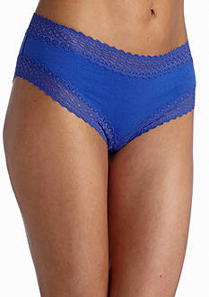 New Directions Lace Trim Solid Cheeky Hipster- H91276P