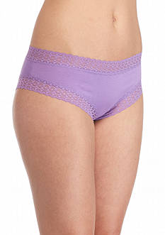 New Directions Lace Trim Solid Cheeky Hipster