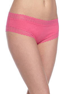New Directions® Lace Trim Solid Cheeky Hipster-  H91276P