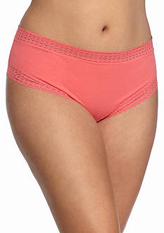 New Directions Plus Size Cotton Tanga Hipsters