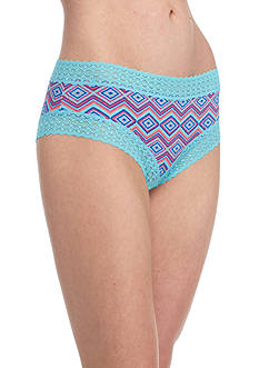 New Directions Intimates Lace Trim Print Cheeky Hipster - H91277P