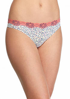 New Directions® Intimates Printed Lace Trim Thong - T91136P