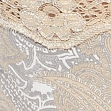 New Directions Intimates Women Sale: Tan Paisley New Directions Intimates Printed Lace Trim Thong - T91136P