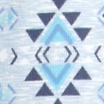Women: Bottoms Sale: Southwest Delicate Blue New Directions Printed Joggers with Pockets