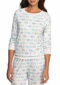 New Directions Long Sleeve Printed Sweatshirt