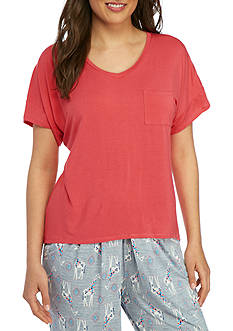 New Directions® Oversized V-Neck Sleep Tee - BK2456