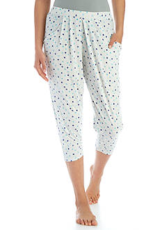 New Directions Printed Capri Sleep Pant - BK2457