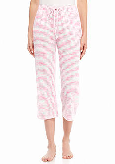 New Directions Intimates Silky Jersey Printed Capri with Pockets