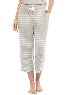 New Directions Stripe Capri Pant with Pockets
