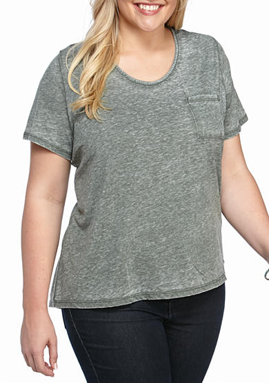 New Directions® Plus Size Short Sleeve Vintage Tee