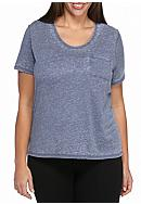 New Directions® Plus Size Short Sleeve