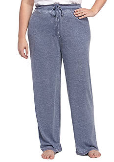 New Directions Plus Size Vintage Jersey Joggers