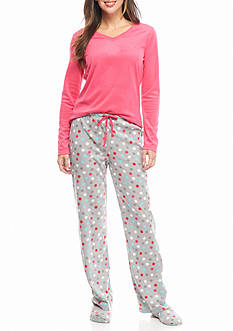 Goodnight Kiss™ 3-Piece Micro Cotton Pajama Set with Slippers