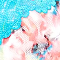 Plus Size Lingerie: Sexy Lingerie: Floral Delight/Turquoise Perfects Australia Carnaval Printed Lace Bra - 14UFF17