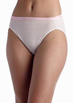 Hanes Platinum Cotton Creation Nude Hi Cut 4 Pack - 43C4WD