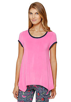 Layla® Short Sleeve Scoop Hanky Tee
